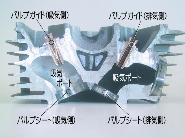 シリンダーヘッドのカットモデル