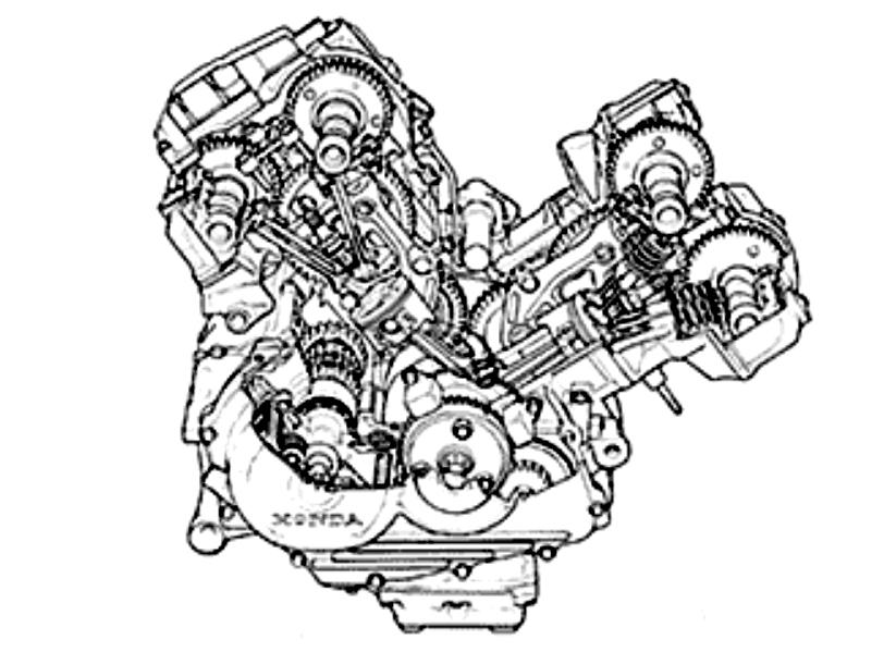 ホンダ VFR400Rのエンジン